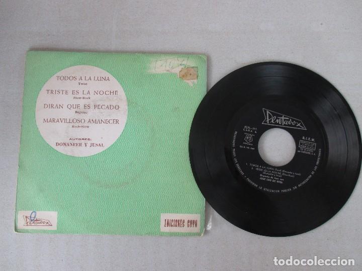 Discos de vinilo: Jose Luis de Utiel con gran orquesta de jazz Todos a la luna + 3 PENTAVOX 1965 - Foto 3 - 127678311