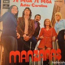 Discos de vinilo: MANZANAS -SE PEGA SE PEGA -ADIOS CAROLINA -. Lote 127684843