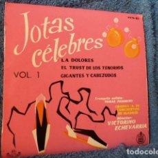 Discos de vinilo: JOTAS CELEBRES -LA DOLORES Y2MAS POR LA ORQUESTAS DE CONCIERTOS DE MADRID. Lote 127688563