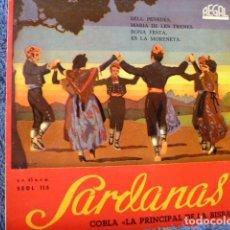 Discos de vinilo: SARDANES -LA PRINCIPAL DE LA BISBAL ´BALL PENEDES - 3 MAS. Lote 127696495