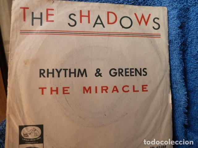 THE SHADOWS-RHYTHM-GRENS--THE MIRACLE -SINGLE MUY RARO - (Música - Discos - Singles Vinilo - Rock & Roll)