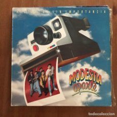 Discos de vinilo: MODESTIA APARTE - HISTORIAS SIN IMPORTANCIA - LP MERCURY 1991. Lote 127736603