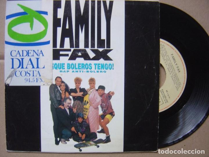 FAMILY FAX - QUE BOLEROS TENGO - SINGLE 1990 - EMI (Música - Discos - Singles Vinilo - Rap / Hip Hop)