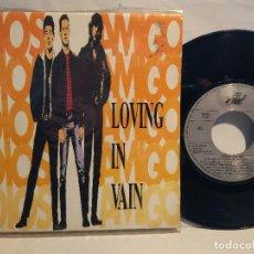 Discos de vinilo: ADIÓS AMIGO SG. LOVING IN VAIN + RAIN 1990 NUEVO A ESTRENAR . Lote 127746551