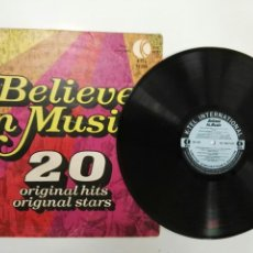 Discos de vinilo: BELIEVE IN MÚSIC 20 ORIGINAL HITS ORIGINAL STAR ROXI MUSIC, CAT STEVENS ETC 1968/1972. Lote 127615655