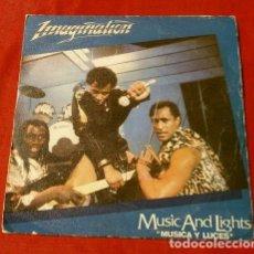 Discos de vinilo: IMAGINATION (SINGLE 1982) MUSIC AND LIGHTS (MUSICA Y LUCES). Lote 127762803