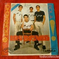 Discos de vinilo: LOS BRINCOS (SINGLE 1965) BORRACHO - SOLA (JUAN Y JUNIOR). Lote 127771523