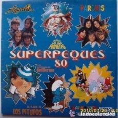 Discos de vinilo: SUPERPEQUES 80 - PARCHIS / REGALIZ / FLAUTA PITUFOS / BARBAPAPA - LP BELTER 1980. Lote 127784531