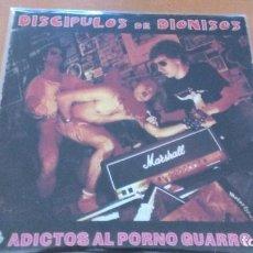 Discos de vinilo: DISCÍPULOS DE DIONISOS ADICTOS AL PORNO GUARRO LP 1996. HARDCORE PUNK CON LETRAS. Lote 127789531