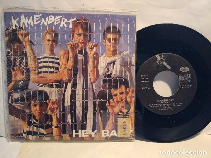 KAMENBERT SG. PROMOCIONAL 1987 HEY BABY + LA GRAN MENTIRA (Música - Discos - Singles Vinilo - Grupos Españoles de los 70 y 80)