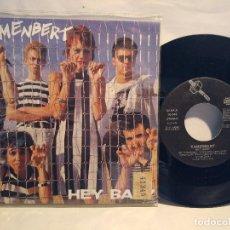 Discos de vinilo: KAMENBERT SG. PROMOCIONAL 1987 HEY BABY + LA GRAN MENTIRA . Lote 127790219