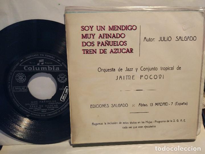 Discos de vinilo: ORQUESTA DE JAZZ DE JAIME POCOVI Ep.1963 SOY UN MENDIGO + 3 temas - Foto 2 - 127791635