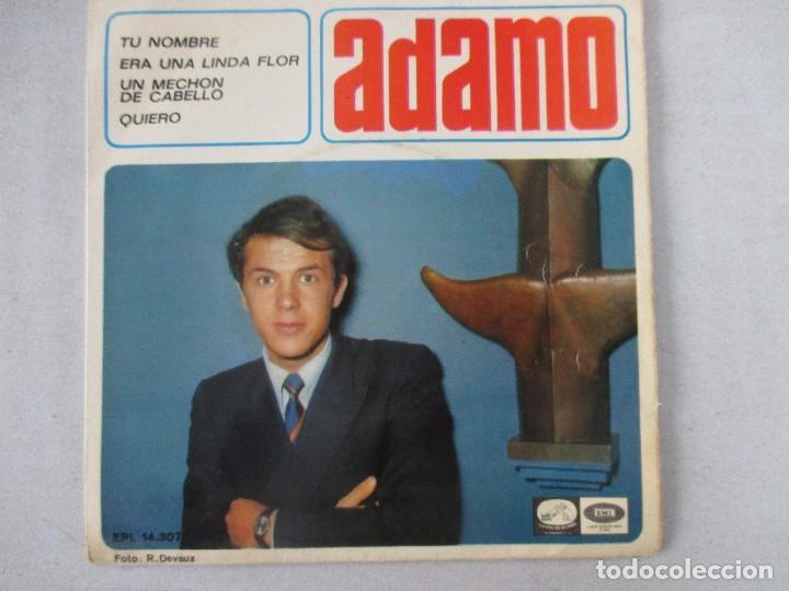 ADAMO TU NOMBRE +3 LA VOZ DE SU AMO 1966 (Música - Discos de Vinilo - EPs - Canción Francesa e Italiana)
