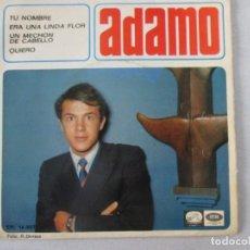 Discos de vinilo: ADAMO TU NOMBRE +3 LA VOZ DE SU AMO 1966. Lote 127796639