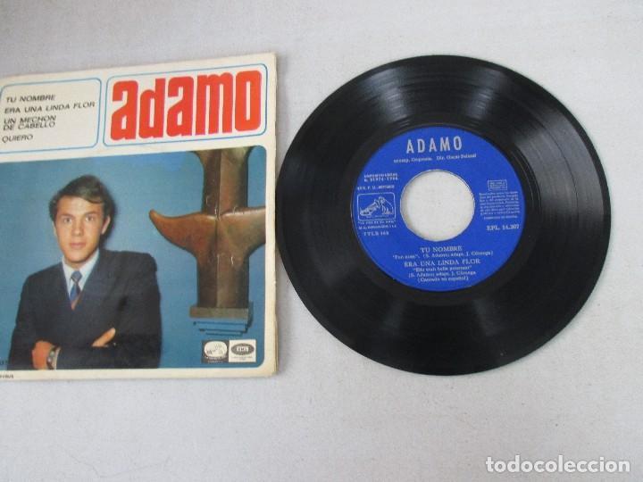 Discos de vinilo: Adamo Tu nombre +3 LA VOZ DE SU AMO 1966 - Foto 3 - 127796639