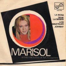 Discos de vinilo: MARISOL - LAS CUATRO BODAS DE MARISOL -, EP, LA BODA + 3, AÑO 1967. Lote 127810639