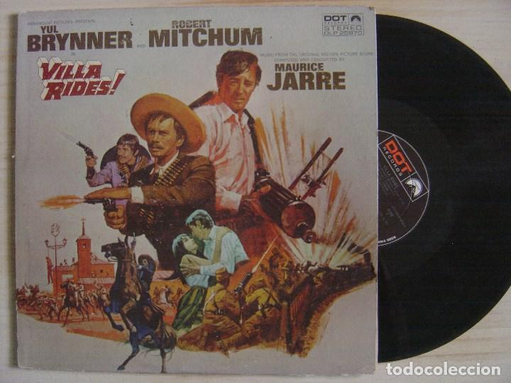 MAURICE JARRE - VILLA RIDES O.S.T - LP USA - DOT // CHARLES BRONSON / YUL BRYNNER / ROBERT MITCHUM (Música - Discos - LP Vinilo - Bandas Sonoras y Música de Actores )