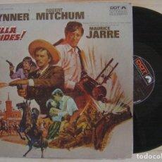 Disques de vinyle: MAURICE JARRE - VILLA RIDES O.S.T - LP USA - DOT // CHARLES BRONSON / YUL BRYNNER / ROBERT MITCHUM. Lote 127813919