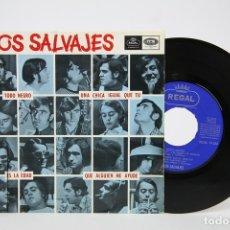 Discos de vinilo: DISCO EP DE VINILO - LOS SALVAJES / TODO NEGRO, UNA CHICA IGUAL QUE TU... - REGAL - AÑO 1966. Lote 127821288