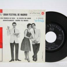 Discos de vinilo: DISCO EP DE VINILO - LOS TNT / 1º GRAN FESTIVAL DE MADRID - RCA - AÑO 1963. Lote 127821363