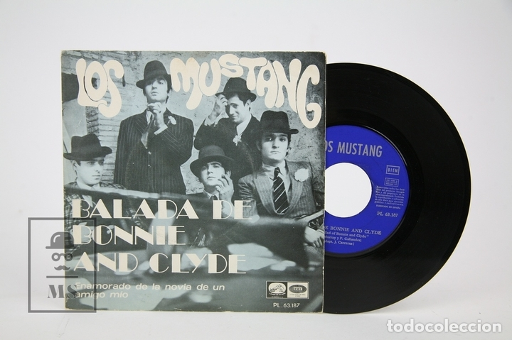 DISCO EP DE VINILO - LOS MUSTANG / BALADA DE BONNIE AND CLYDE - LA VOZ DE SU AMO - AÑO 1968 (Música - Discos - Singles Vinilo - Grupos Españoles 50 y 60)