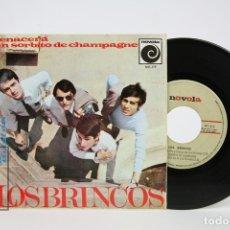 Discos de vinilo: DISCO EP DE VINILO - LOS BRINCOS / RENACERÁ, UN SORBITO DE CHAMPAGNE... - NOVOLA - AÑO 1966. Lote 127821452
