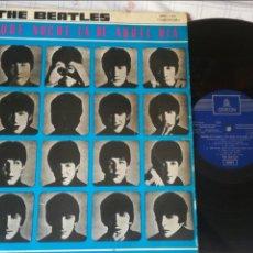 Discos de vinilo: THE BEATLES QUE NOCHE LA DE AQUEL DÍA 1964 EDICIÓN ESPAÑOLA. Lote 127825280