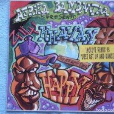 Discos de vinilo: AFRIKA BAMBAATAA PRESENTS KHAYAN THE NEW WORLD POWER,,HAPPY EDICION ESPAÑOLA DEL 95. Lote 127827375