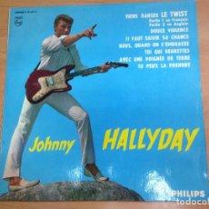 Discos de vinilo: 10 PULGADAS JOHNNY HALLYDAY / VIENS DANSER LE TWIST /8 TEMAS MADE IN FRANCE MONO REF B76534R VG++. Lote 127831275