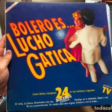 Discos de vinilo: DOBLE LP BOLERO ES... LUCHO GATICA. Lote 127832411