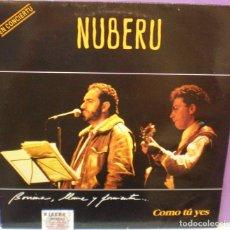 Discos de vinilo: NUBERU - COMO TÚ YES - LP EN CONCIERTU . Lote 127835015