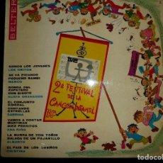 Discos de vinilo: II FESTIVAL DE LA CANCION INFANTIL DE T.V.E. - LP BELTER 22.271. Lote 127839187