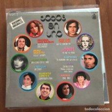 Discos de vinilo: VV.AA. - TODOS EN UNO VOL. 2 - LP HISPAVOX 1978. Lote 127841011