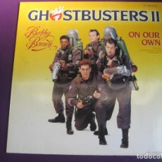 Discos de vinilo: BOBBY BROWN MAXI SINGLE MCA 1989 - ON OUR OWN - BSO GHOSTBUSTERS II - CINE - WHITNEY HOUSTON. Lote 127844455