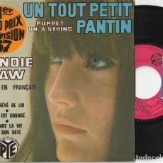 Discos de vinilo: SANDIE SHAW - UN TOUT PETIT PANTIN + 3 (EP PYE 1967 FRANCIA) CANTA EN FRANCES. Lote 127844655