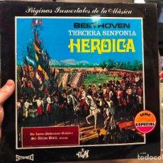 Discos de vinilo: LP BEETHOVEN TERCERA DINFONIA HEROICA. Lote 127851743