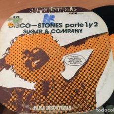 Discos de vinilo: SUGAR & COMPANY (DISCO COVER ROLLING STONES) MAXI ESPAÑA PROMO 1978 COLECCION SUPERSINGLE (VIN-A5). Lote 127866875