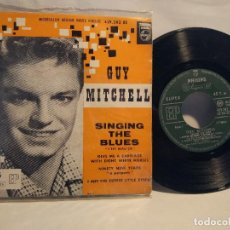 Discos de vinilo: GUY MITCHELL SINGING THE BLUES EP FRANCÉS 4 TEMAS . Lote 127890883
