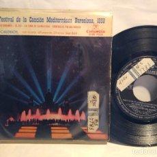 Discos de vinilo: RAMÓN CALDUCH CON LA ORQUESTA DE JOSÉ SOLA FESTIVAL MEDITERRÁNEA BARCELONA 1959 AZUL DEL MEDITERRÁNE. Lote 127890923