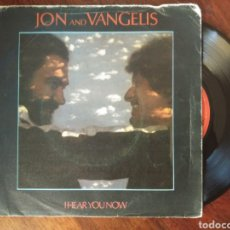 Discos de vinilo: JON AND VANGELIS I HEAR YOU NOW / THUNDER 1979 POLYDOR ESPAÑA. Lote 127904011