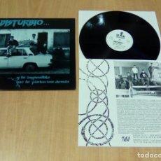 Discos de vinilo: DISTURBIO - ... Y LO IMPOSIBLE QUE LO PINTEN LOS DEMÁS (LP 1992, ENCARTE, URANTIA D30UR0017) NUEVO. Lote 127907391