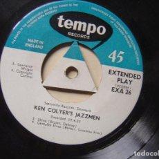 Discos de vinilo: KEN COLYER´S JAZZMEN CON LONNIE DONEGAN - ISLE OF CAPRI - EP INGLES 1955 - TEMPO . Lote 127910959