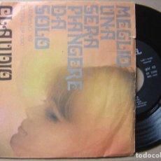 Discos de vinilo: CLAUDIO VILLA - MEGLIO UNA SERA PIANGERE DA SOLO - SINGLE ITALIANO 1969 - CETRA // SAN REMO 1969. Lote 127913159