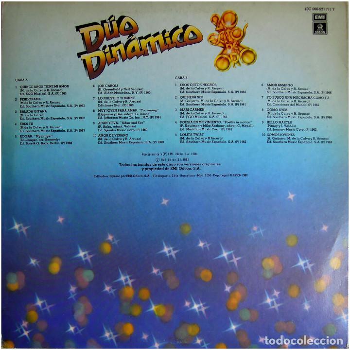 Discos de vinilo: Dúo Dinámico – 20 Exitos De Oro - Lp Spain 1980 - Odeon 10C 066-021711 Y - Foto 2 - 127932623