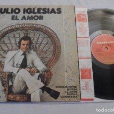 Discos de vinilo: JULIO IGLESIAS - EL AMOR (ARGENTINA 1975). Lote 127940591