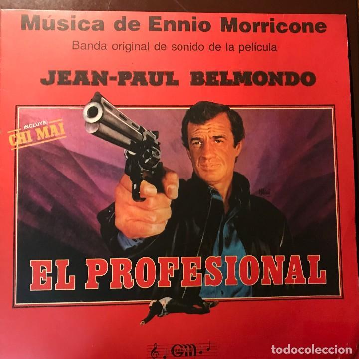 LP ARGENTINO BSO EL PROFESIONAL AÑO 1981 (Música - Discos - LP Vinilo - Bandas Sonoras y Música de Actores )