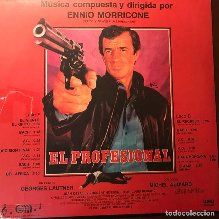 Discos de vinilo: LP argentino BSO El profesional año 1981 - Foto 2 - 127978243