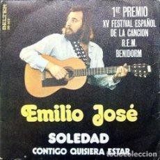 Discos de vinilo: EMILIO JOSÉ ?– SOLEDAD / CONTIGO QUISIERA ESTAR ED.: ESPAÑA, 1973). Lote 127978967