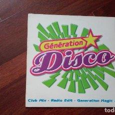 Discos de vinilo: GENERATION DISCO-MAXI ZAFIRO. Lote 128007855