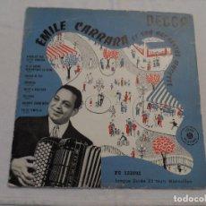Discos de vinilo: EMILE CARRARA ET SON ORCHESTRE MUS'ETTE (10 PULGADAS). Lote 128020967